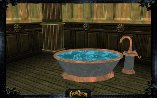 Copper-Lined Stone Bathtub