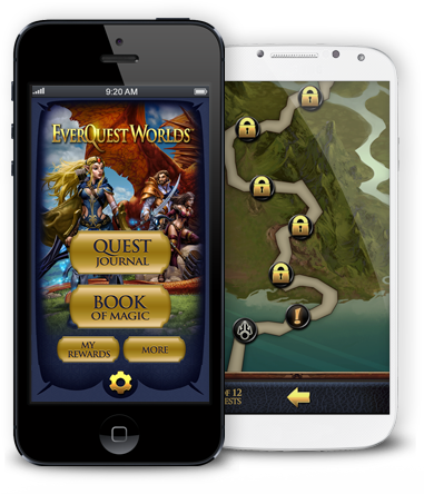 EverQuest Worlds App on Phone