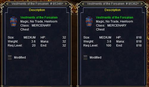 Vestments of the Forsaken