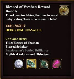 Blessed of Veeshan Reward Bundle