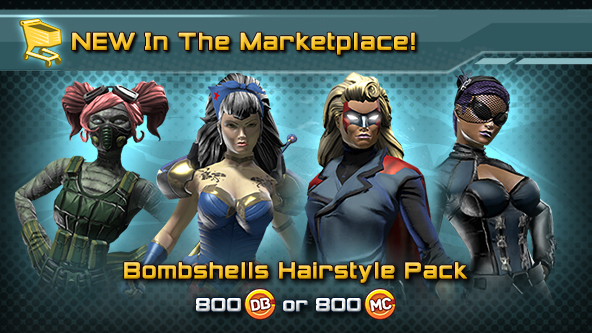 Online Hair Style: New In The Marktplace: DC Bombshells Hairstyle Pack And