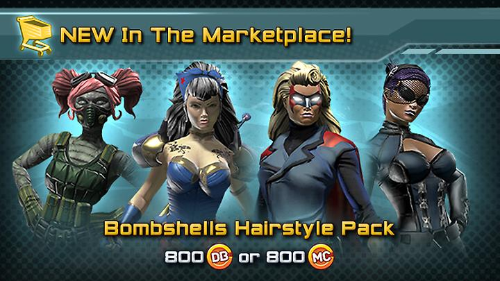 New In The Marktplace Dc Bombshells Hairstyle Pack And Shared Bank