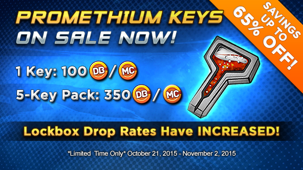 Promethium Keys On Sale! Plus, Lockbox Drop Rates Increased