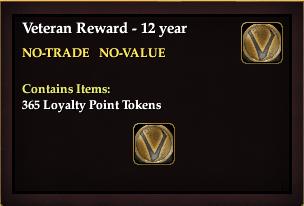 Veteran Reward 12 Year