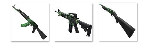AK, M4 und Shotgun