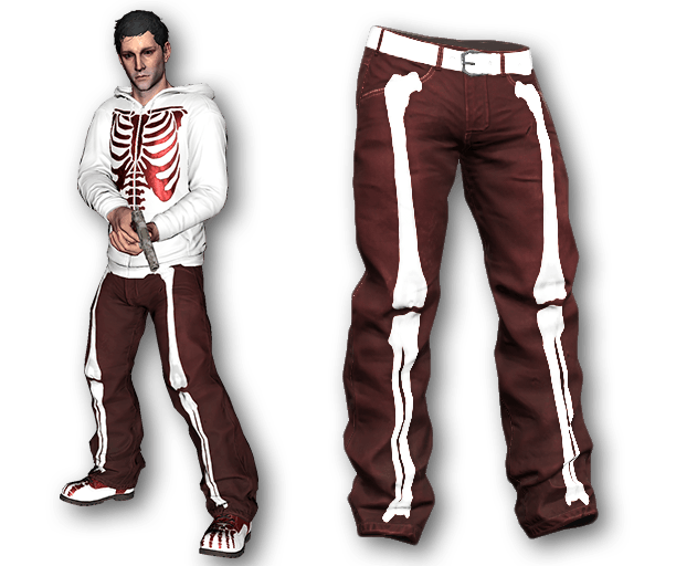 Red Bone Baggy Pants (Common)