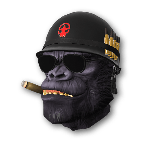 Gorilla Warfare Full Helmet (Ultra-Rare)