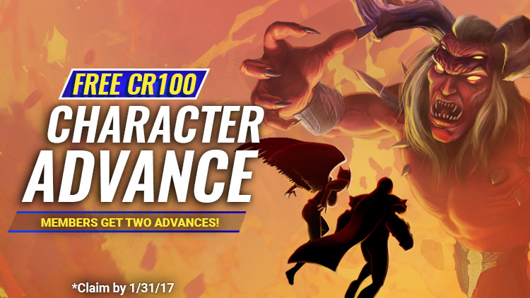 Advance to CR100!