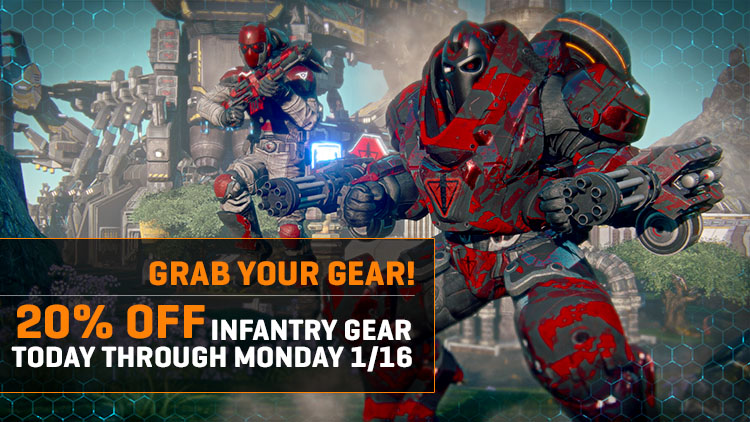 Gear Grab: 20% Off All Infantry Gear