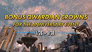 Bonus Qwardian Crowns Weekend!