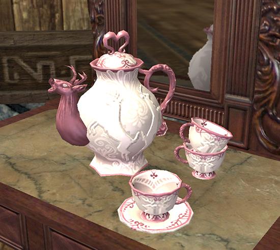 Rosy Hart Tea Set