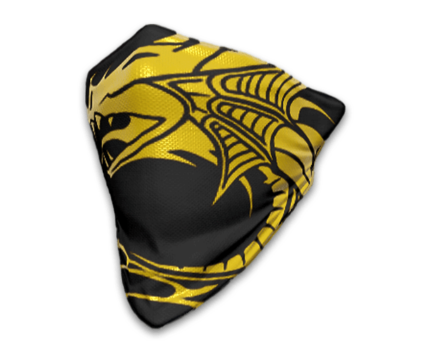 Golden Dragon Face Bandana