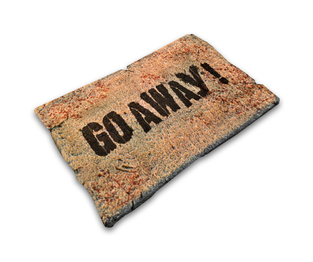 Doormat: Go Away Recipe