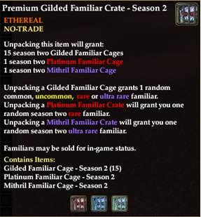 Premium Gilded Familiar Crate - Season 2