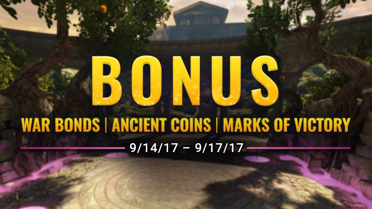 Bonus Currency Weekend! September 14-17