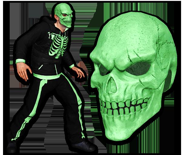 Green Bone Skull Mask