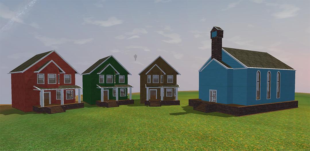 Stately Street Set Buildings