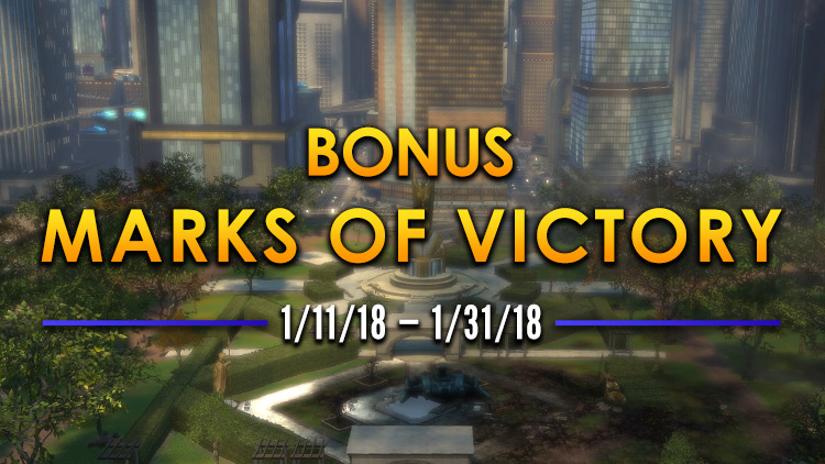 Bonus Marks of Victory Month! January 11-31, 2018