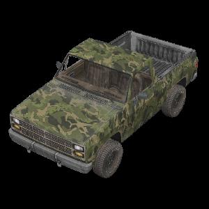 Camo Pickup Truck