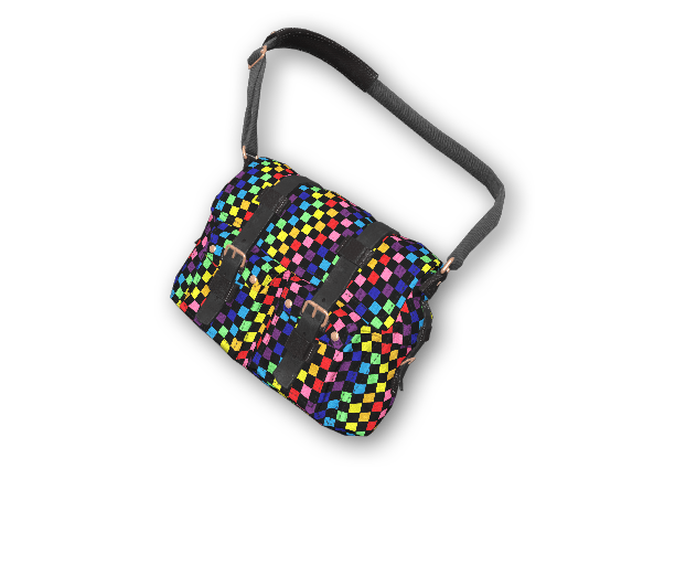 Rainbow Check Satchel