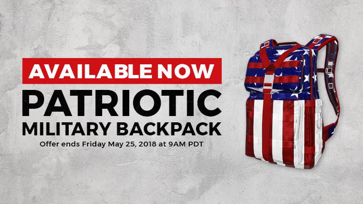 Patriotic Military Backpack