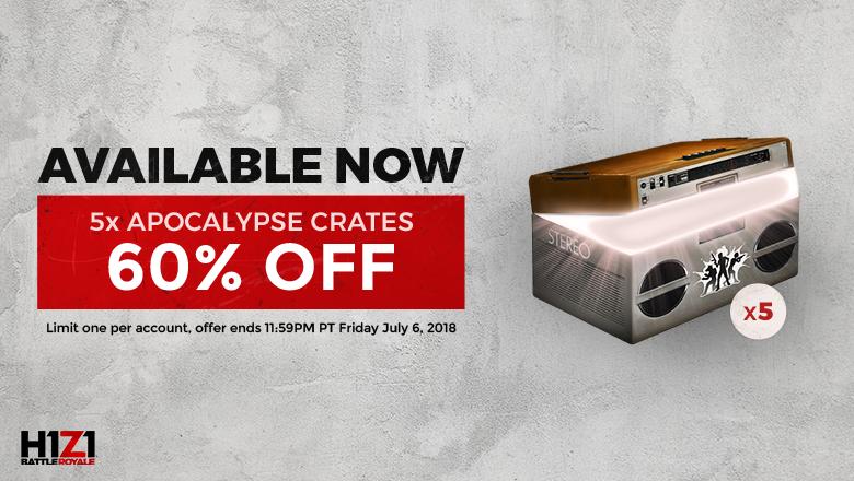 Apocalypse Crate Sale