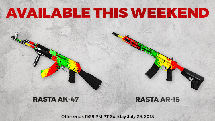 Rasta AR-15 and AK-47