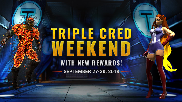Triple Cred Weekend & NEW Titans Rewards!