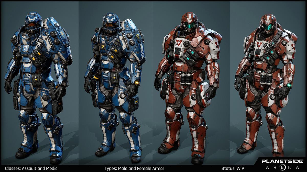 PlanetSide Arena - Class Armor