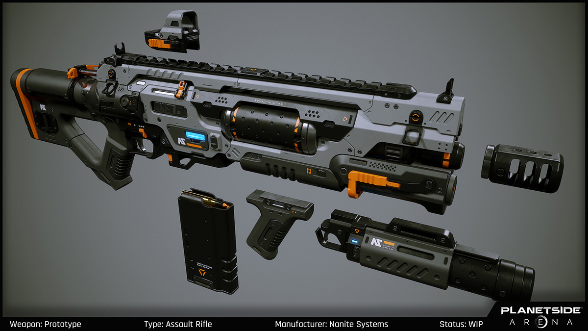 PlanetSide Arena - Weapons