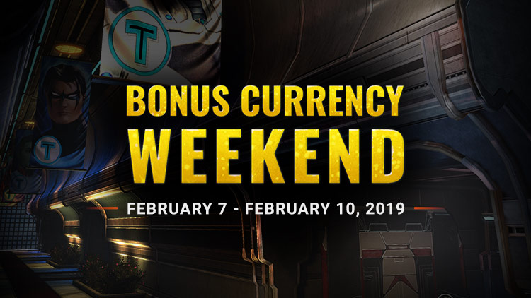 Bonus Currency Weekend!