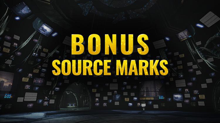 Bonus Source Marks Weekend!