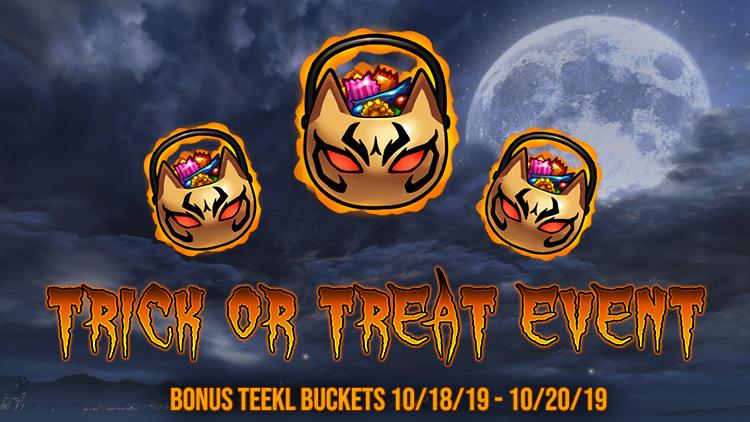 Bonus Trick or Treat Weekend!
