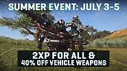 Celebrate Summer with Double XP & 40% OFF all Vehicle Weapons!