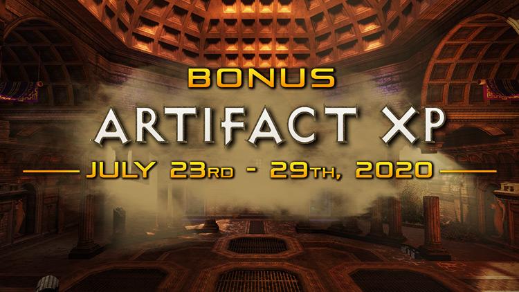 Bonus Artifact XP Week!